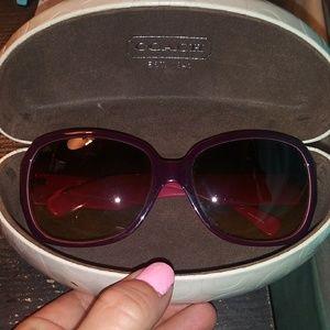 Womens coach sunglasses pink/berry